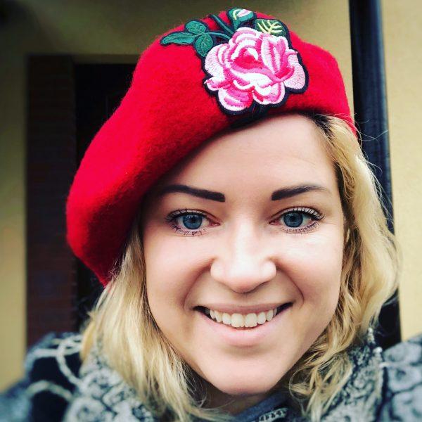vintage red beret