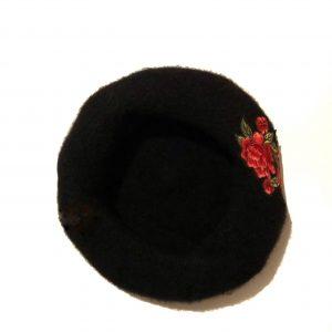 vintage black beret