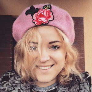 vintage pink beret
