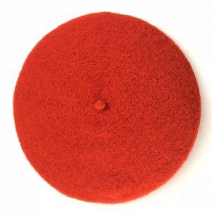 coral beret